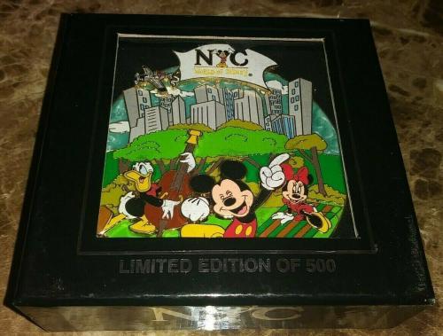Disney Wod Nyc New York City Jumbo Collectible Pin Rare Le /500 Authentic L@@k B