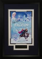 Disney's Frozen Cast Autographed 11x17 Poster Framed