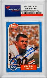 Mike Ditka Chicago Bears Autographed 1988 Swell #142 Card - Mounted Memories