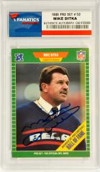 Mike Ditka Chicago Bears Autographed 1989 Pro Set #53 Card - Mounted Memories