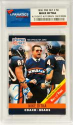 Mike Ditka Chicago Bears Autographed 1990 Pro Set #59 Card - Mounted Memories