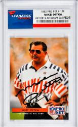 Mike Ditka Chicago Bears Autographed 1992 Pro Set #126 Card