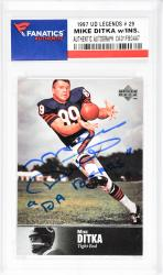 Mike Ditka Chicago Bears Autographed 1997 Upper Deck Legends #29 Card with Da Bears Inscription - Mounted Memories  - Mounted Memories