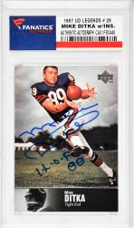 Mike Ditka Chicago Bears Autographed 1997 Upper Deck Legends #29 Card with HOF 00 Inscription - Mounted Memories  - Mounted Memories