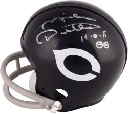 Mike Ditka Chicago Bears Autographed Riddell Throwback Mini Helmet with HOF 88 Inscription -