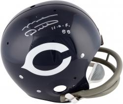 Mike Ditka Autographed Helmet - Throwback TK Suspension HOF 88 Mounted Memories
