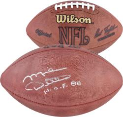 Chicago Bears Mike Ditka Autographed Duke NFL Football with HOF 88 Inscription - Mounted Memories