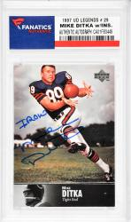 Mike Ditka Chicago Bears Autographed 1997 Upper Deck Legends #29 Card with Iron Inscription - Mounted Memories  - Mounted Memories