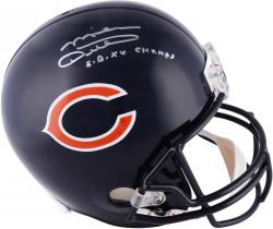 Signed Mike Ditka Helmet - Riddell Replica SB XX Champs Mounted Memories