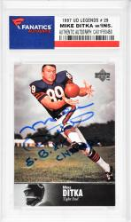 Mike Ditka Chicago Bears Autographed 1997 Upper Deck Legends #29 Card with SB XX Champs Inscription - Mounted Memories  - Mounted Memories