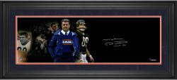 Mike Ditka Chicago Bears Framed Autographed 10'' x 30'' Filmstrip Photograph with HOF Inscription-#2-23 of a Limited Edition of 24 - Mounted Memories