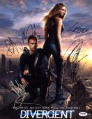 DIVERGENT CAST MULTI  SIGNED 11x14 Photo +10 FULL LETTER PSA/DNA AUTOGRAPHED