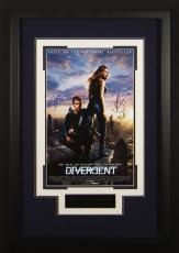 DIVERGENT Cast Signed 11x17 Poster Framed Display