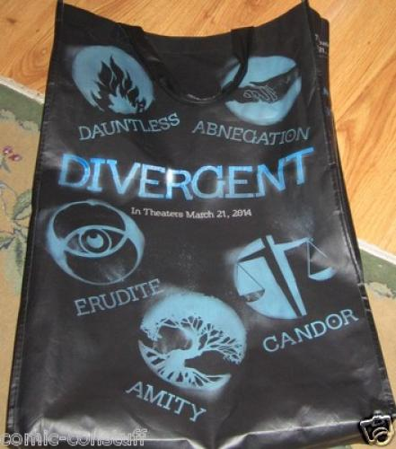Divergent movie 2013 Comic-Con SDCC EXCLUSIVE huge promo swag or tote bag MINT
