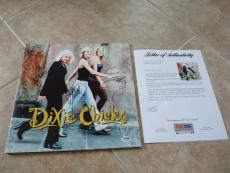 Dixie Chicks Band Signed Autographed Wide Open Spaces LP x All 3 PSA Certified