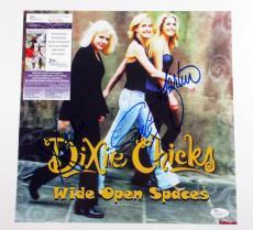 Dixie Chicks Signed Album Promo Card Wide Open Spaces 3 JSA AUTO