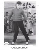 D.J. FONTANA HAND SIGNED 8x10 PHOTO   RARE POSE ELVIS PRESLEY    TO JOHN    JSA