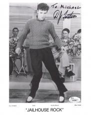 D.J. FONTANA HAND SIGNED 8x10 PHOTO   RARE POSE ELVIS PRESLEY   TO MICHAEL   JSA