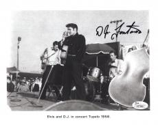 D.J. FONTANA HAND SIGNED 8x10 PHOTO   RARE POSE WITH ELVIS PRESLEY IN 1956   JSA