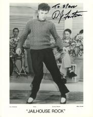 D.J. FONTANA HAND SIGNED 8x10 PHOTO+COA   JAILHOUSE ROCK+ELVIS PRESLEY  TO STEVE