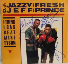 DJ JAZZY JEFF, WILL SMITH & MIKE TYSON Signed Autographed Album JSA #M13304