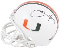 D.J. Williams Miami Hurricanes Autographed Mini Helmet - Mounted Memories
