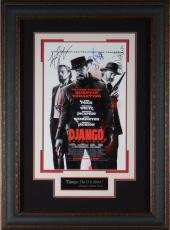 Django Unchained Cast Signed 11x17 Poster Framed