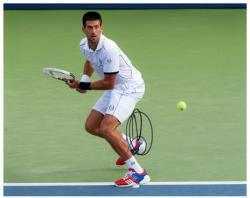 Novak Djokovic Autographed 8'' x 10'' 2011 US Open Photograph