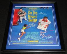 Do the Right Thing 1989 Spike Lee Framed 11x14 ORIGINAL Vintage Advertisement