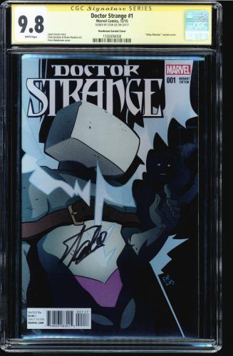 Doctor Strange #1 Cgc 9.8 Ss Stan Lee Henderson Variant Cgc #1508494008