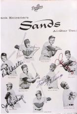 DODGERS 4x6 B/W Promo Signed by RED SKELTON, DEAN MARTIN, JERRY LEWIS, DANNY THOMAS and JOEY BISHOP