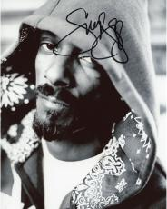 Snoop Dogg Autographed 8'' x 10'' Black and White Hoodie Photograph