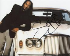 Snoop Dogg Autographed 8'' x 10'' Leaning On Car Photograph