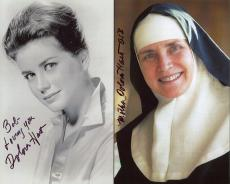 DOLORES HART HAND SIGNED 8x10 PHOTO+COA      WITH ELVIS PRESLEY    TO BOB