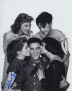 Dolores Hart Signed Autographed Bw Photo With Elvis Presley Nice!!