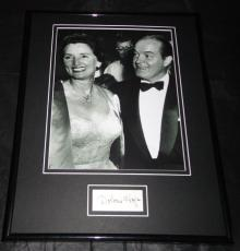 Dolores Hope Signed Framed 11x14 Photo Display w/ Bob Hope