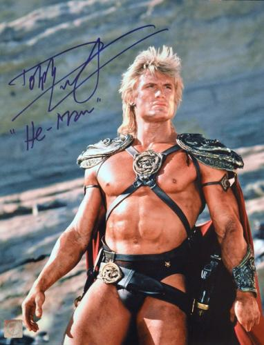 """Dolph Lundgren """"He-Man"""" Signed Masters Of The Universe 11x14 Photo """"Looking Up"""