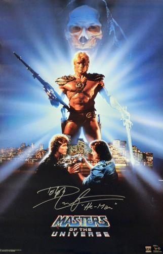 """Dolph Lundgren """"He-Man"""" Signed Masters Of The Universe 22x36 Movie Poster"""