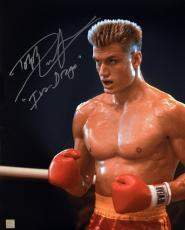 "Dolph Lundgren ""Ivan Drago"" Signed ROCKY IV 16x20 Photo ""In The Corner"