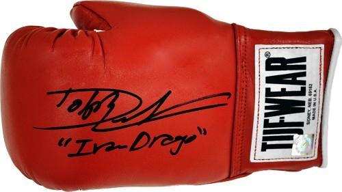 "Dolph Lundgren ""Ivan Drago"" Signed ROCKY IV Tuf Wear Boxing Glove"