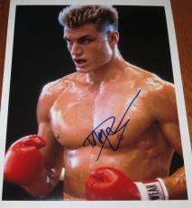 Dolph Lundgren Signed 11x14 Photo Drago Rocky Stallone Expendables Proof Coa E