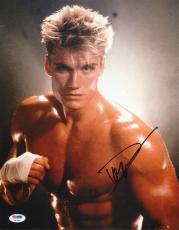 Dolph Lundgren Signed 11x14 Photo PSA/DNA COA Rocky Ivan Drago Picture Autograph