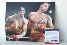Dolph Lundgren signed 8x10 autographed photo Rocky IV PSA U23167