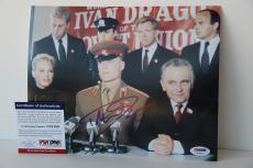 Dolph Lundgren signed 8x10 autographed photo Rocky PSA/DNA U23169