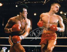 Dolph Lundgren Signed Auto'd 11x14 Photo Psa/dna Aa47254 Ivan Drago Rocky Iv
