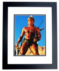 Dolph Lundgren Signed - Autographed Masters of the Universe 8x10 inch Photo BLACK CUSTOM FRAME - Guaranteed to pass PSA or JSA - Rocky IV Actor