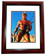 Dolph Lundgren Signed - Autographed Masters of the Universe 8x10 inch Photo MAHOGANY CUSTOM FRAME - Guaranteed to pass PSA or JSA - Rocky IV Actor