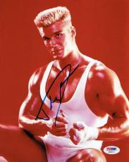 Dolph Lundgren Signed Rocky Authentic Autographed 8x10 Photo PSA/DNA #AB55772