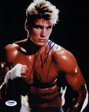 Dolph Lundgren Signed Rocky Authentic Autographed 8x10 Photo PSA/DNA #AB55774