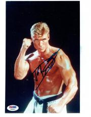 Dolph Lundgren Signed Rocky IV Authentic Autographed 8x10 Photo PSA/DNA #Y89267